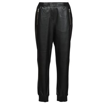 Oblačila Ženske Hlače s 5 žepi Karl Lagerfeld FAUXLEATHERJOGGERS Črna