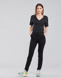 Oblačila Ženske Hlače s 5 žepi Karl Lagerfeld SUMMERPUNTOPANTS Črna