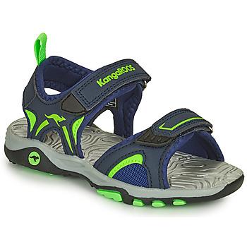 Čevlji  Dečki Sandali & Odprti čevlji Kangaroos K-MONT Modra / Zelena