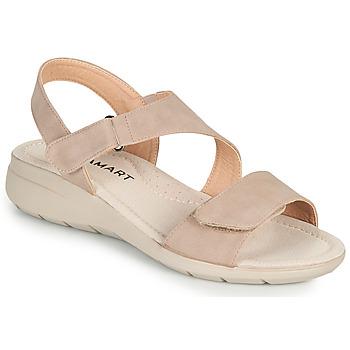 Čevlji  Ženske Sandali & Odprti čevlji Damart 67808 Bež / Rožnata