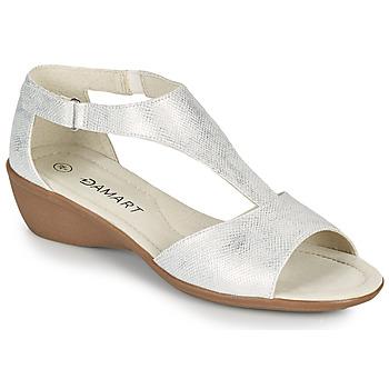 Čevlji  Ženske Sandali & Odprti čevlji Damart 49019 Srebrna