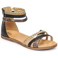 Čevlji  Deklice Sandali & Odprti čevlji Bullboxer ALM013F1S-ROSE Črna