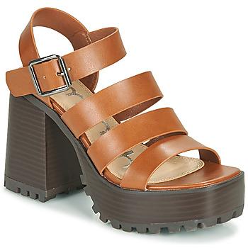 Čevlji  Ženske Sandali & Odprti čevlji Emmshu DITA Cognac