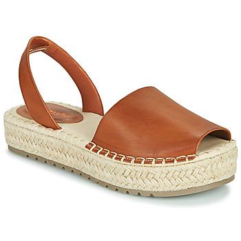 Čevlji  Ženske Sandali & Odprti čevlji Emmshu LUZIA Cognac