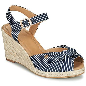 Čevlji  Ženske Sandali & Odprti čevlji Esprit ELIN Modra / Bela