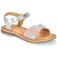 Čevlji  Deklice Sandali & Odprti čevlji Gioseppo QUINCY Srebrna / Rožnata