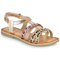 Čevlji  Deklice Sandali & Odprti čevlji Gioseppo PALMYRA Rožnata / Zlata
