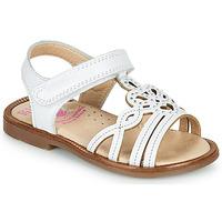 Čevlji  Deklice Sandali & Odprti čevlji Pablosky MARIE Bela