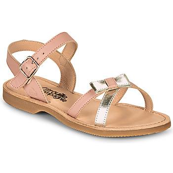 Čevlji  Deklice Sandali & Odprti čevlji Citrouille et Compagnie JISCOTTE Rožnata / Srebrna