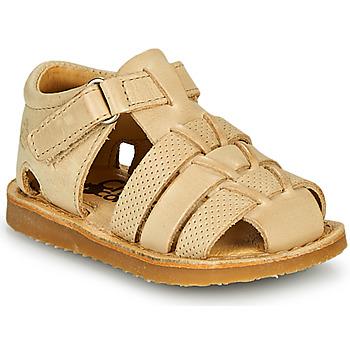 Čevlji  Dečki Sandali & Odprti čevlji Citrouille et Compagnie MISTIGRI Bež