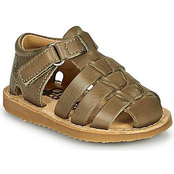 Čevlji  Dečki Sandali & Odprti čevlji Citrouille et Compagnie MISTIGRI Kaki