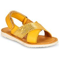 Čevlji  Deklice Sandali & Odprti čevlji Citrouille et Compagnie OVETTE Rumena