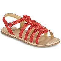 Čevlji  Deklice Sandali & Odprti čevlji Citrouille et Compagnie MAYANA Rdeča