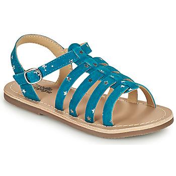 Čevlji  Deklice Sandali & Odprti čevlji Citrouille et Compagnie MAYANA Modra