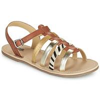 Čevlji  Deklice Sandali & Odprti čevlji Citrouille et Compagnie MAYANA Tan