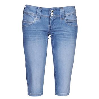 Oblačila Ženske Hlače 3/4, 7/8 Pepe jeans VENUS CROP Modra