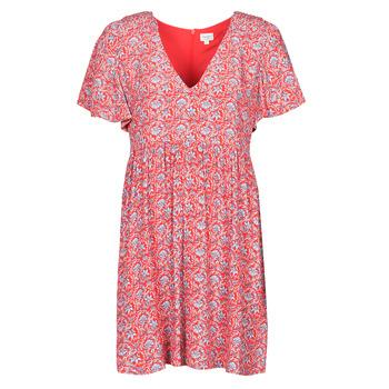 Oblačila Ženske Kratke obleke Pepe jeans CAROLINA Rdeča / Modra