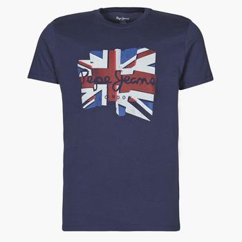 Oblačila Moški Majice s kratkimi rokavi Pepe jeans DONALD Modra