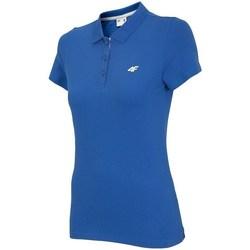Oblačila Ženske Polo majice kratki rokavi 4F TSD007 Modra