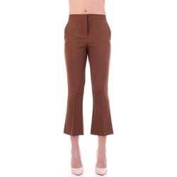 Oblačila Ženske Elegantne hlače Angela Davis EG71 Tabacco