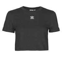 Oblačila Ženske Majice s kratkimi rokavi adidas Originals CROP TOP Črna