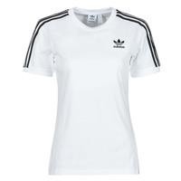 Oblačila Ženske Majice s kratkimi rokavi adidas Originals 3 STRIPES TEE Bela