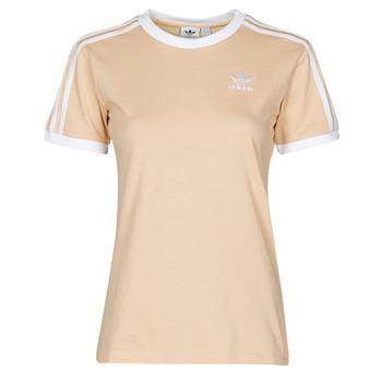 Oblačila Ženske Majice s kratkimi rokavi adidas Originals 3 STRIPES TEE Oranžna