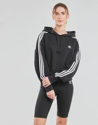 Oblačila Ženske Puloverji adidas Originals SHORT HOODIE Črna