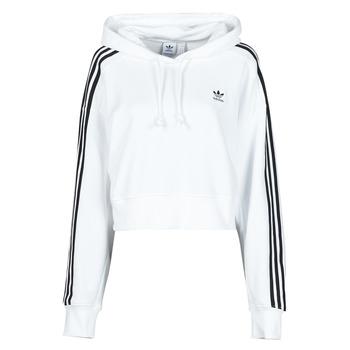 Oblačila Ženske Puloverji adidas Originals SHORT HOODIE Bela