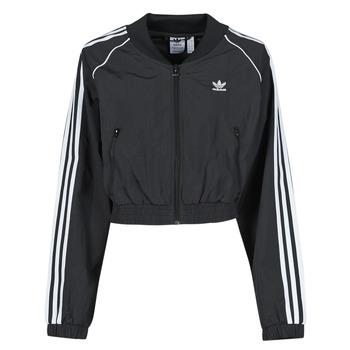Oblačila Ženske Športne jope in jakne adidas Originals SHORT TRACKTOP Črna