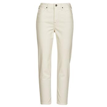 Oblačila Ženske Jeans straight Lee CAROL Kremno bela