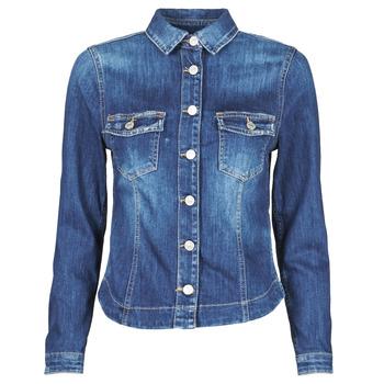 Oblačila Ženske Jeans jakne Le Temps des Cerises LILLY Modra
