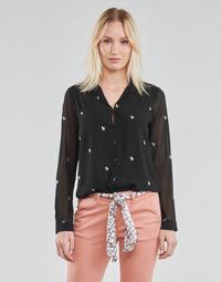 Oblačila Ženske Topi & Bluze Le Temps des Cerises RUSSELA Črna