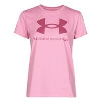 Oblačila Ženske Majice s kratkimi rokavi Under Armour LIVE SPORTSTYLE GRAPHIC SSC Rožnata