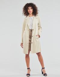 Oblačila Ženske Plašči Esprit SUEDE COAT Bež