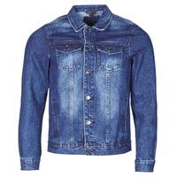 Oblačila Moški Jeans jakne Yurban OPSI Modra