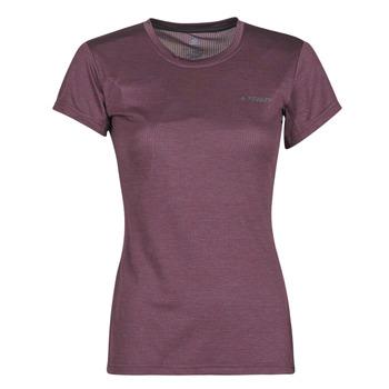 Oblačila Ženske Majice s kratkimi rokavi adidas Performance W Tivid Tee Vijolična