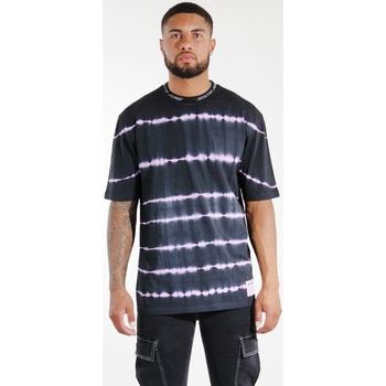 Oblačila Moški Majice & Polo majice Sixth June T-shirt  Tie & Dye noir/violet