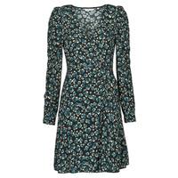 Oblačila Ženske Kratke obleke Naf Naf LEO R1 Črna / Zelena
