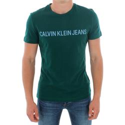Oblačila Moški Majice s kratkimi rokavi Calvin Klein Jeans J30J307856 383 GREEN Verde oscuro