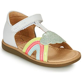 Čevlji  Deklice Sandali & Odprti čevlji Shoo Pom TITY RAINBOW Bela