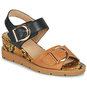 Čevlji  Ženske Sandali & Odprti čevlji Sweet ETOXYS Črna / Kamel