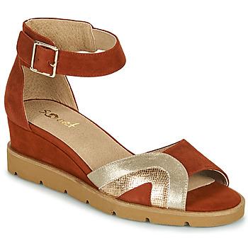 Čevlji  Ženske Sandali & Odprti čevlji Sweet ETUVESS Bordo / Pozlačena