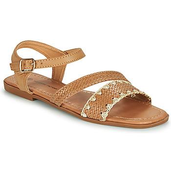Čevlji  Ženske Sandali & Odprti čevlji The Divine Factory TX4339 Kamel