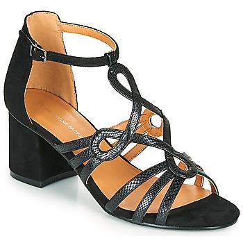 Čevlji  Ženske Sandali & Odprti čevlji The Divine Factory QL4327 Črna