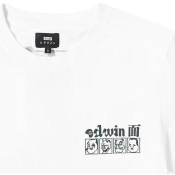 Oblačila Moški Majice s kratkimi rokavi Edwin T-shirt  Hokusai Noh Masks blanc/noir