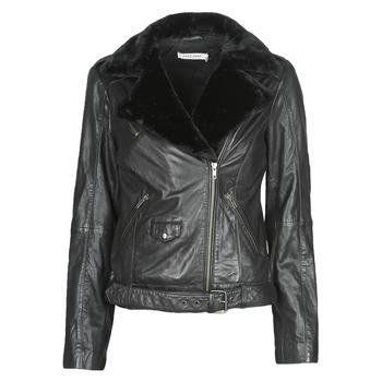Oblačila Ženske Usnjene jakne & Sintetične jakne Naf Naf CILL Črna