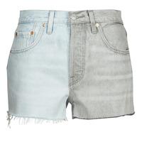 Oblačila Ženske Kratke hlače & Bermuda Levi's ICE BLOCK Modra / Siva