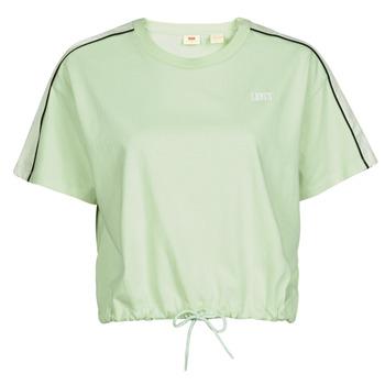 Oblačila Ženske Majice s kratkimi rokavi Levi's GINGER NYLON PIECED TEE BOK CHOY, TOFU & CAVIAR Bela