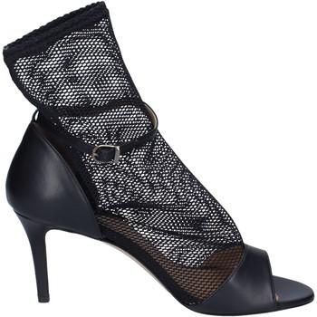 Čevlji  Ženske Sandali & Odprti čevlji Stephen Good Sandali Pelle Tessuto Nero